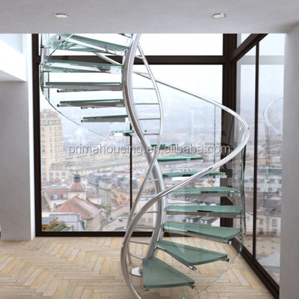 China Supplier Glass Stairs Grill Design Spiral Staircase Prices Pr