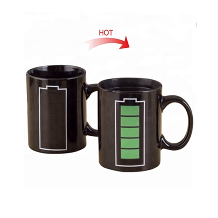 Wholesale white porcelain coffee magic cup ceramic mug with logo as promotional personalized gift