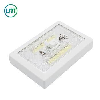 Ultra Bright Mini Cob Wireless Wall Light Switch Battery Powered Led