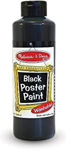 Melissa & Doug - Black Poster Paint (8 oz) (Cases of 4 items)