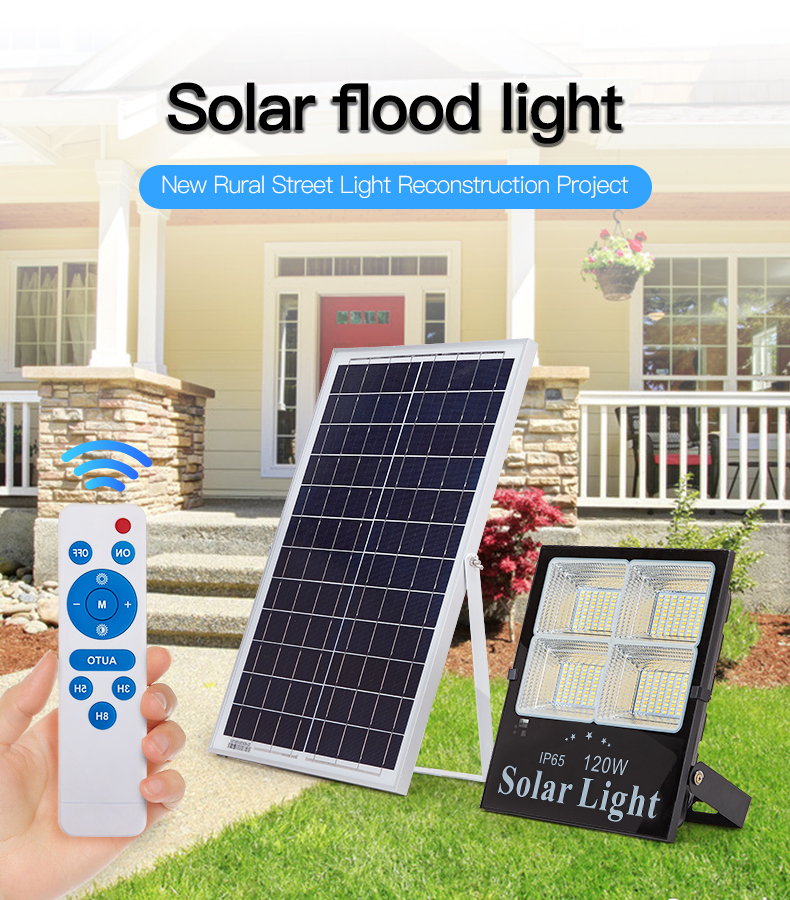 HIGH CLASS Industry 4.0 remote control unique outdoor camping 25 40 60 120 200 watt led solar flood light
