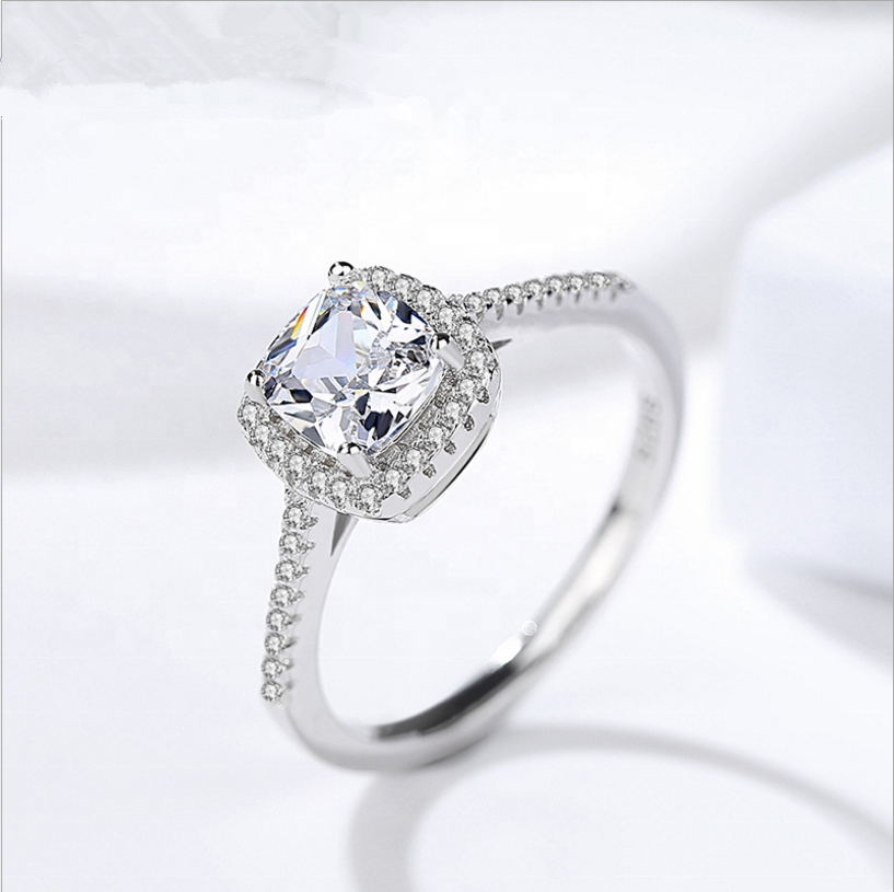 W166 Excellent cut Princess Value fashion female ring by Moyu