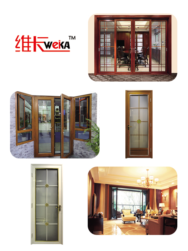 2015 hot selling products interior wood bathroom door with glass