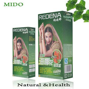 Ecological Natural Herbal Henna Hair Dye Cream Of Chinese Hair Dye