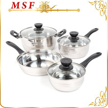 7pcs pans and pots stainless steel parini cookware with bakelite handle
