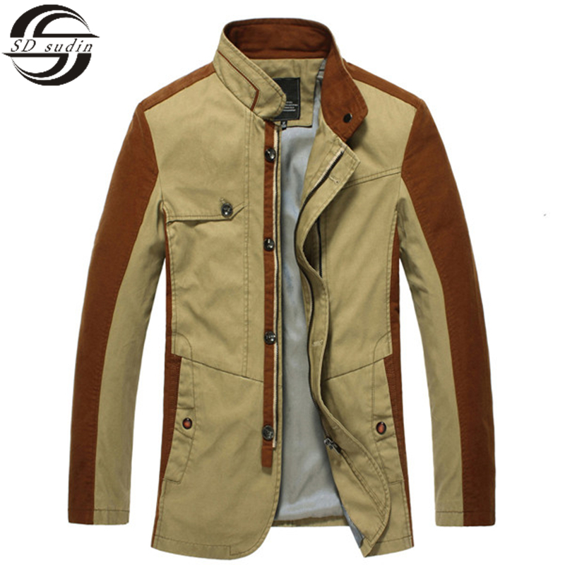 Winter Jackets Men\'s Jackets Patchwork Free Shipping 2015 NEW High quality Casual Cotton Solid Men Jackets Big brand QZ105 XXXL