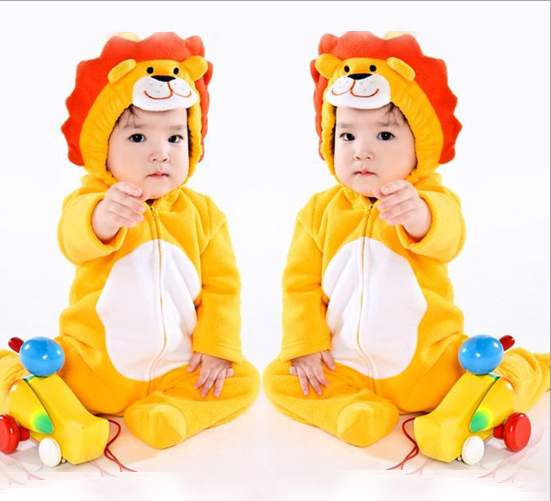 2015 New Hot Sale Baby Clothes New Cotton Flannel Lining Quilted Jumpsuit Cartoon Animal Rompers Baby Clothing 0 to 24months