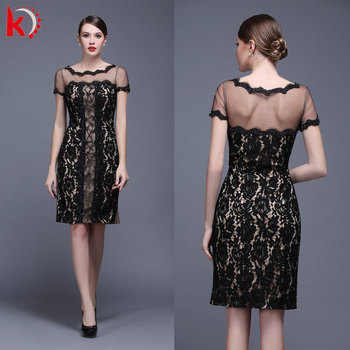 Elegant Short Latest Design Formal Embroidered Lace Appliqued
