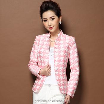 c9a3928f2c5f3 De moda trajes formales pequeña chaquetas para Mujeres Nuevo pequeño abrigo chaqueta  blazer para mujer