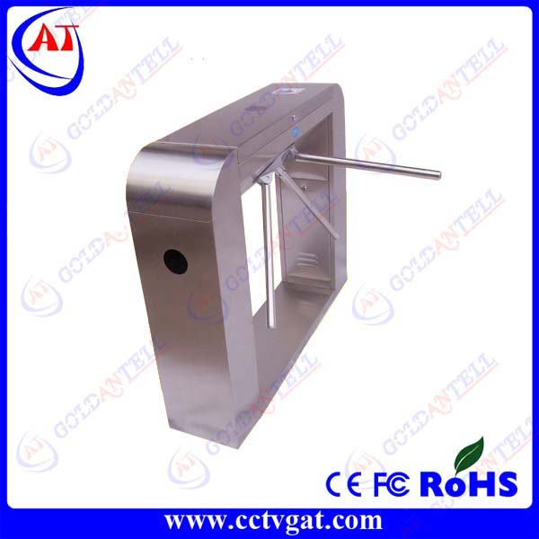 Intelligent high quality stainless steel bi - directional automatic security tripod turnstile gate for access control