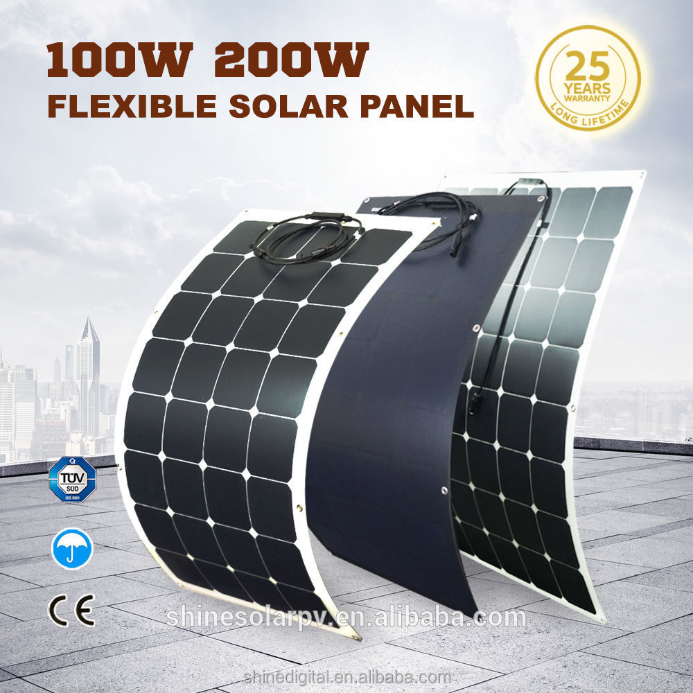 100w solar panel price semi flexible solar cell c60 sunpower