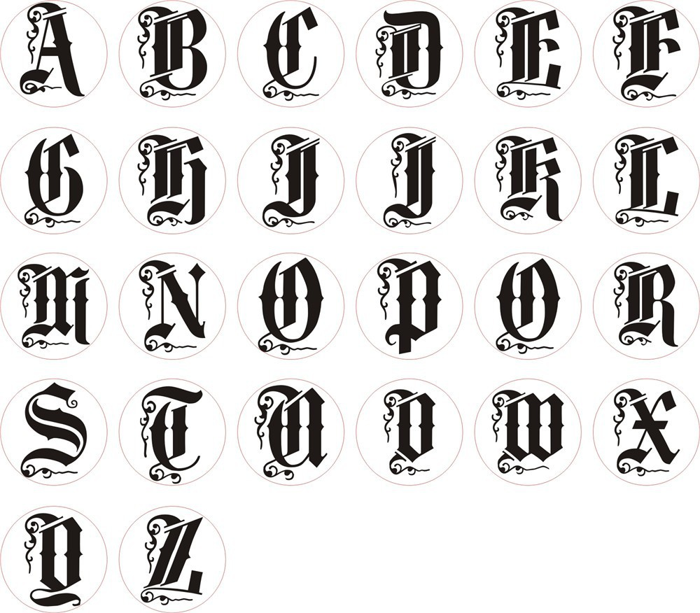 Different Styles Of Writing Alphabet Letters