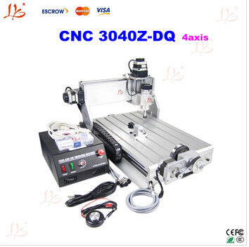 4 axis cnc engraver cnc 3040 mini cnc engraving machine for 3D working,cnc router,also have 6040 cnc milling machine