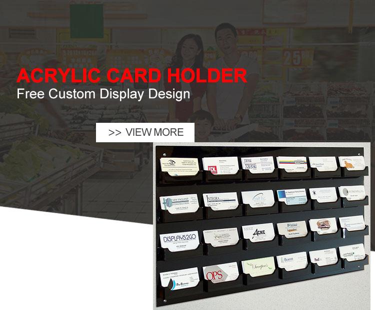 Klare Tasche Acryl Visitenkartenhalter Für Wandhalterung