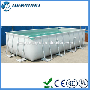 2016 newest space family swimming pool type steel frame pools