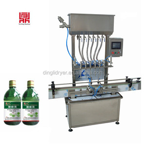 6 heads stainless steel automatic mineral water/ vinegar bottle filling machine price