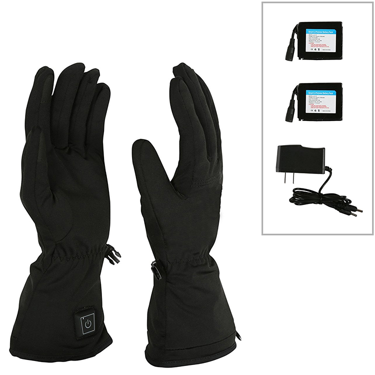 2017 Safety Electrical Waterproof Heated Ski Gloves For Men