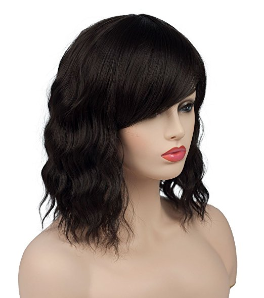 Wavy Bob Lace Front Wigs With Bang Human Hair 250% Density Malaysian Hair  Wigs For Black Women - Buy Side Part Wavy Bob Curly Lace Front Wigs 854274f4b6f3