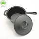 cast iron pre seasoned milk pot and soup pot with lid