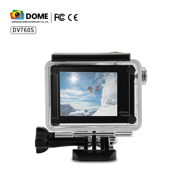 Cheap factory price waterproof Sports DV Action Camera 7color Support wifi HD / Flash Memory 2inch LCD