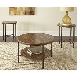 Sonoma 3 Pack Occasional Extremely Durable Contemporary Style Coffee Table  Set With Powder Coated Metal