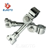 "Zjmoto High Quality Chrome Aluminum Motorcycle Footrest Clamp Fits All 1 1/2"" (38mm) Engine Guard / Tubing"