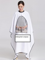 Top selling Wholesale waterproof hair dressing coloring plastic barber cape with window for mobile phone