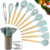 2019 New Color Nylon Wood Wooden Silicone Cooking Tool Stainless Steel Kitchen Utensils Set