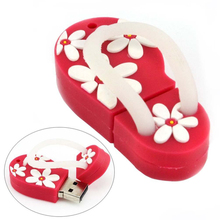 Silicone Cute Flip Flops Design USB Flash Drive Case Cartoon Summer USB Memory Stick Cover