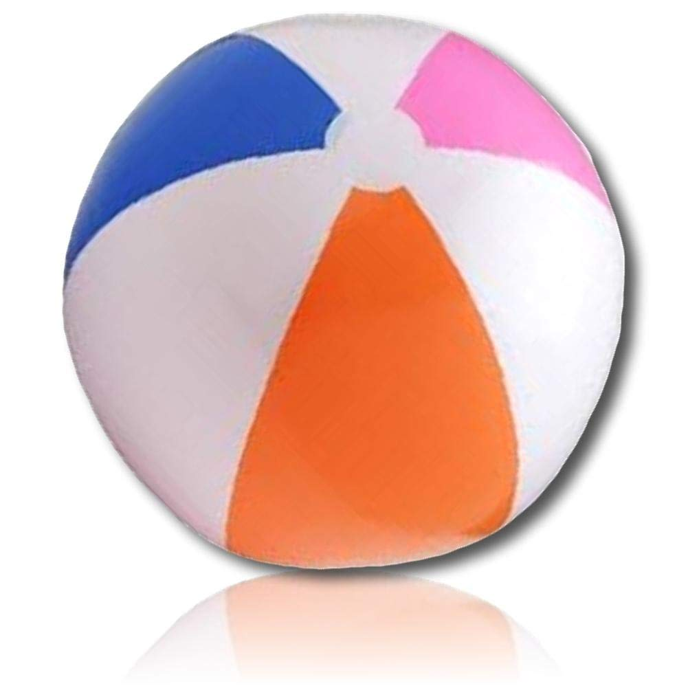 "ULTRA Durable & Custom {6"" Inch} 36 Wholesale Pack of Small-Size Inflatable Beach Balls for Summer Fun, Made of Lightweight FLEX-Resin Plastic w/ Bright Traditional Striped Barred Style {Multicolor}"