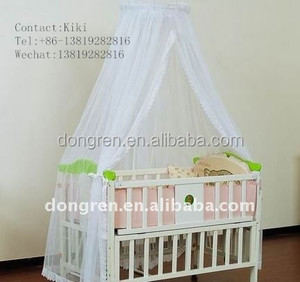 mosquito net mosquito netting cot playpen baby canopy circle with lace mosquito net