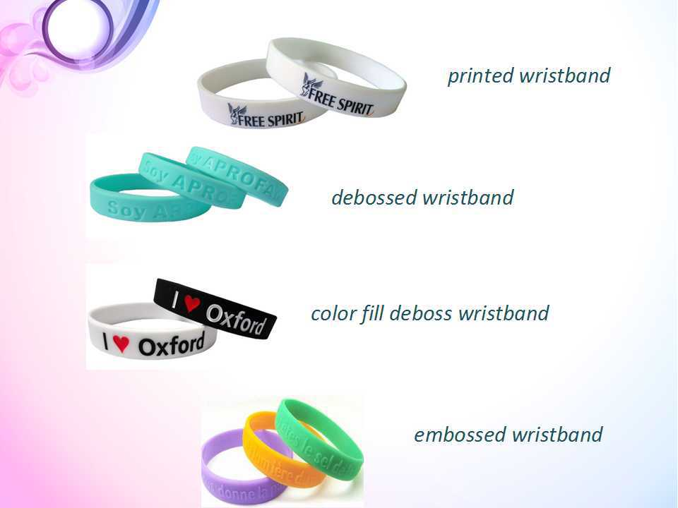 personalized Silicone bracelets for event