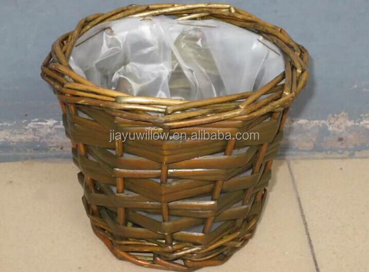 Wall Hanging Basket 100%handmade wicker wall hanging plant basket wicker flower