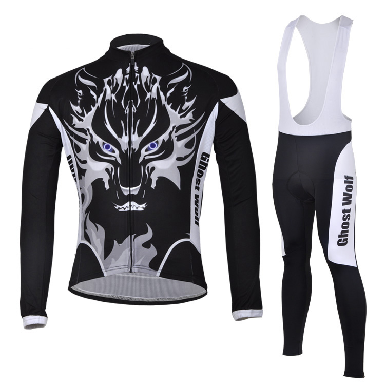 Get Quotations · Ghost Wolf Winter Thermal Fleece Cycling Ropa Ciclismo  Invierno Cycling jerseys Super Warm Bicycle Clothing 4d8042653