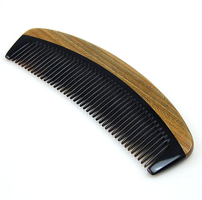 FQ brand OEM men hair comb custom logo wooden/horn beard comb