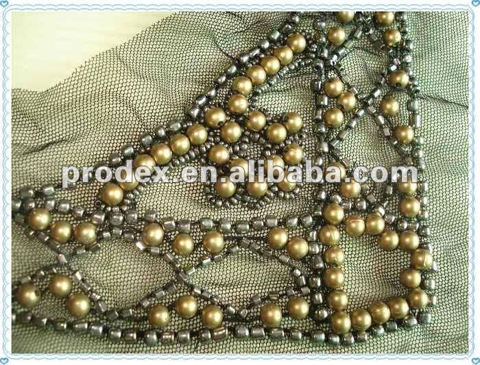 Apparel Beaded Collar Applique,Embroidery Design