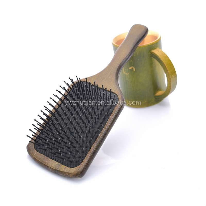 Promotional price sandalwood massage cushion magic hair color brush detachable hair brush