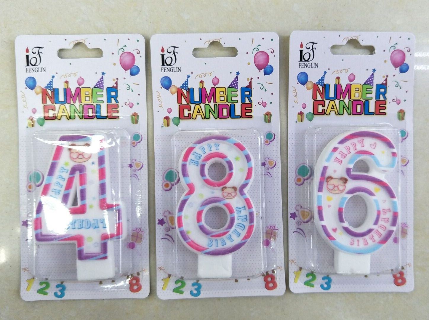 New Product High Quality Decorative Paraffin Color Birthday Cake Number Candle For Sale,Vela Para Pastel