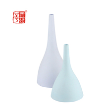 Ideal Wedding Gifts High Textured Ceramic Narrow-Mouth Clay Pottery Vase Trumpet Vase Flower