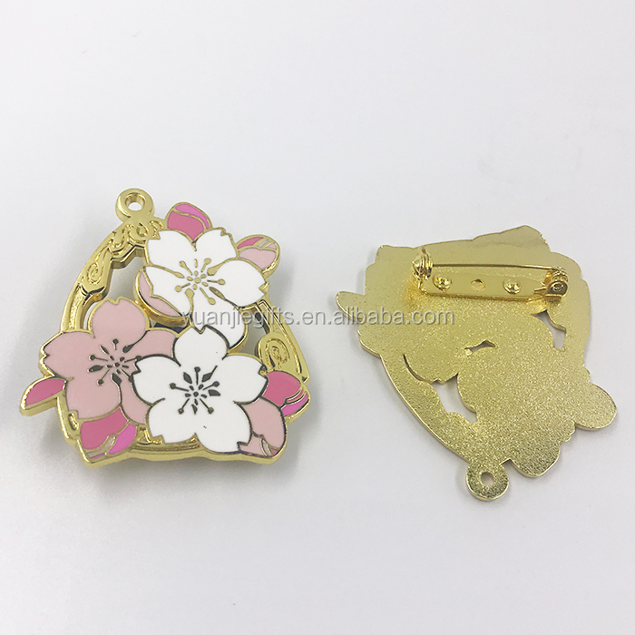 Custom glitter emaille pin/harde emaille pin custom fabrikant China