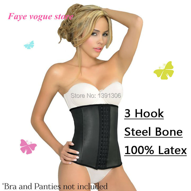 74fed526bcdee Real Latex body shaper control underwear sliming belt loss weight ann chery  waist cincher plus size waist training corsets FY022