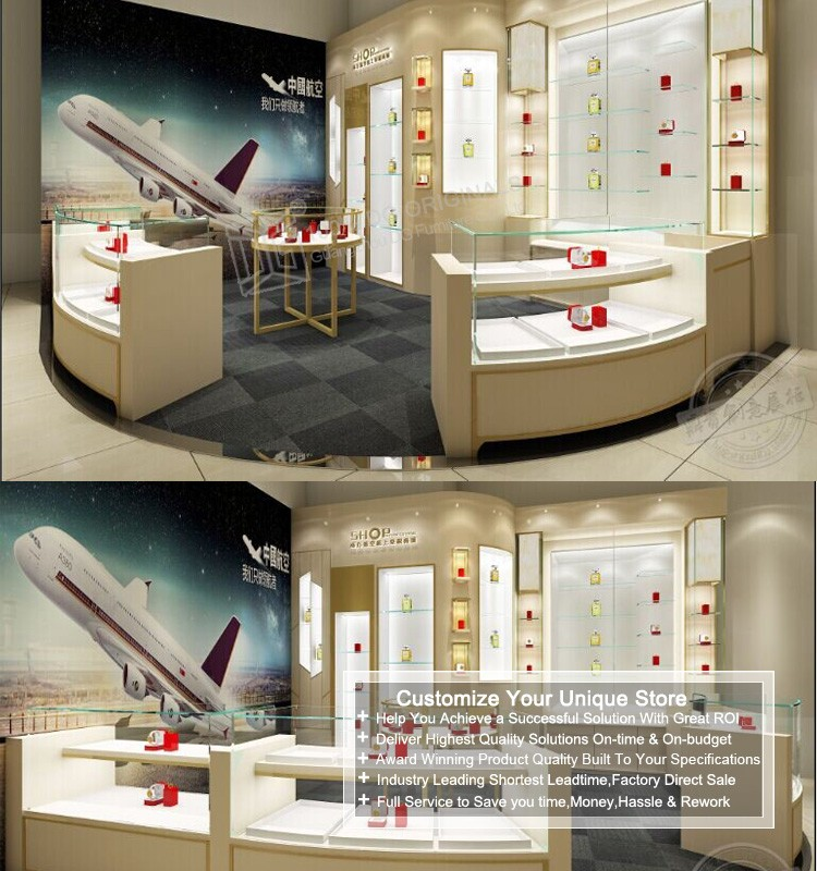 Jewellery Showroom Furniture Design Wooden Wall Mounted Jewelry ...