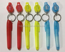 short pen barrel and with invisible ink pen packed by uv light keychain set secret invisible ink pen CH-6010