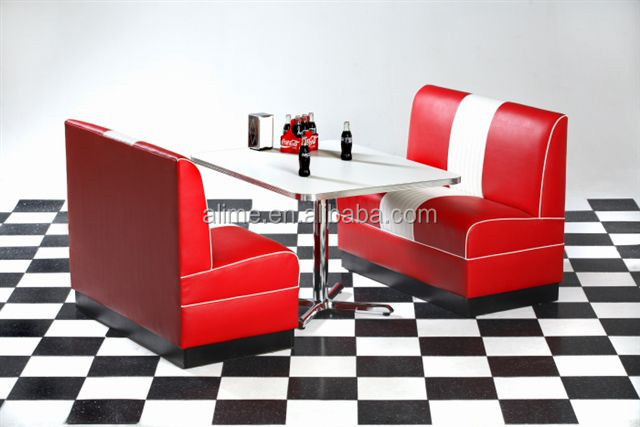 Panche Per Fast Food.Alime American Two Color Fast Food Restaurant Booth Seating