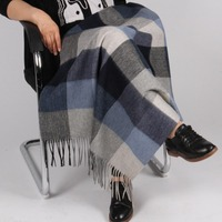 Knee Warmer Pure Wool Plaids Throw Fabric Blanket