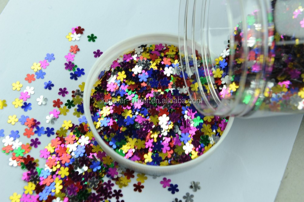 Hot sale high chroma silver PET glitter for crafts kingber glitter