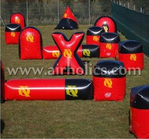 0.65mm PVC Canton Fair inflatable manufacturer paintball archery game bunker H5005