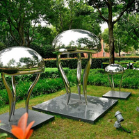 Polished decorative famous metal art sculpture stainless steel sculpture metal yard art