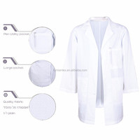 Soil Release Brushed New Fashion Wholesale Fluid Resistant Lab Coat