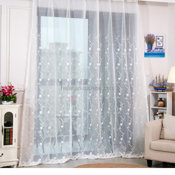 Turkish Embroidered Sheer Voile Curtain Fabric